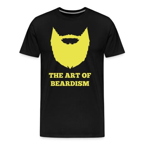 The art of beardism - Mannen Premium T-shirt