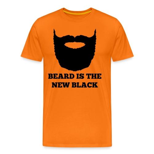 Beard is the new Black - Mannen Premium T-shirt