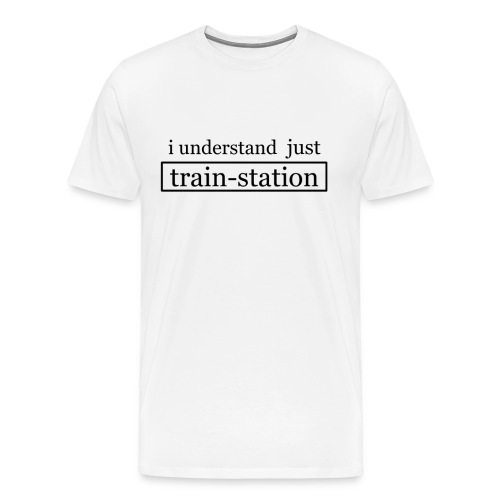 train-station black - Männer Premium T-Shirt