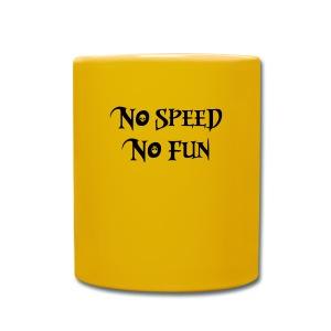 no speed no fun race skulsl - Tasse einfarbig
