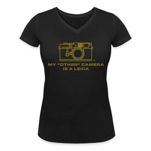 My other camera is a Leica. Ladies GOLD Premium 100% cotton - Women's V-Neck T-Shirt