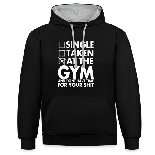 At the gym Hoodie - Contrast Colour Hoodie