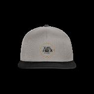 Cappelli & Berretti ~ Snapback Cap ~ cappellino bicolore con logo in 3d e bandiera (logo per capi chiari)