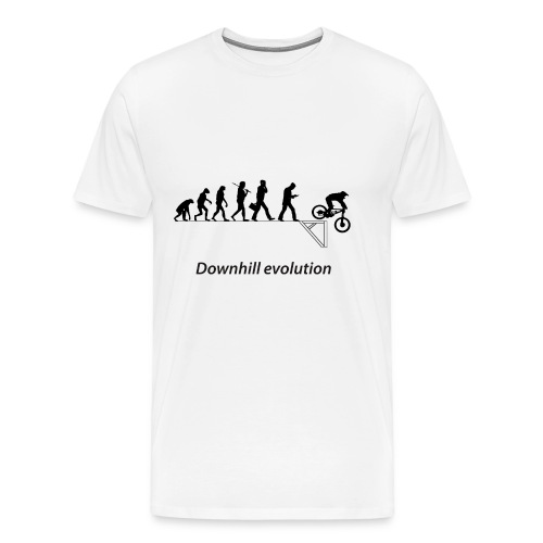 Downhill evolution ado - T-shirt Premium Homme