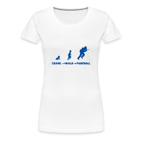 Crawl, walk, paintball - Women's Premium T-Shirt