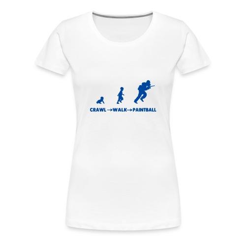 Crawl, walk, paintball - Women's Premium T-Shirt