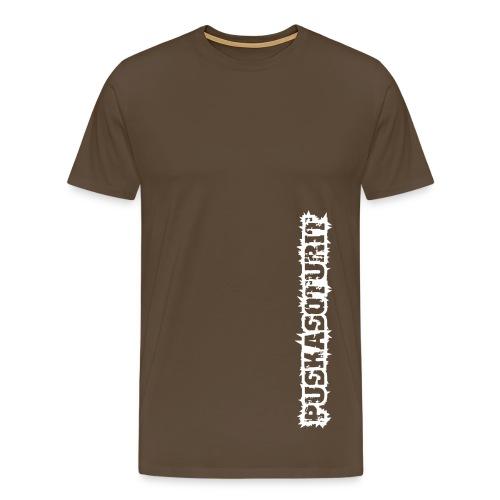 Miesten T-paita (ruskea) - Miesten premium t-paita
