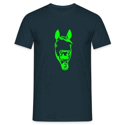 Lachendes Pferd - Männer T-Shirt