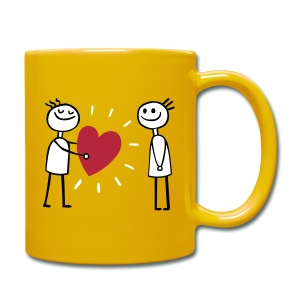 LOVEmug I love you - Tasse einfarbig