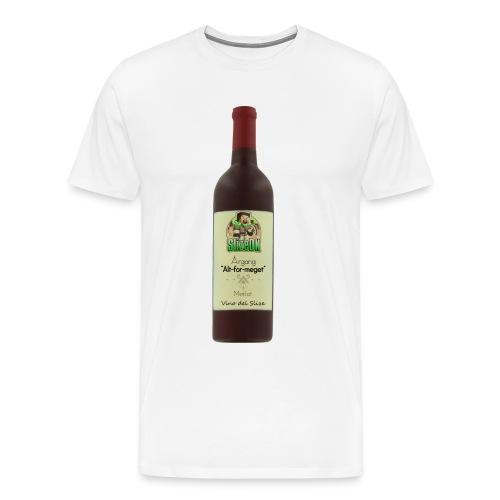 Vino del Slize t-shirt - Herre premium T-shirt