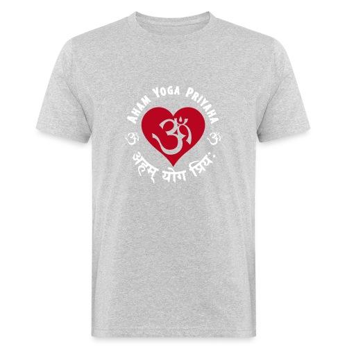Aham Yoga Priyaha - Männer Bio-T-Shirt