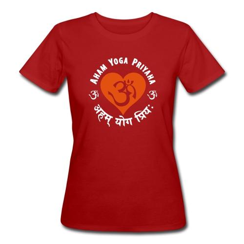 Aham Yoga Priyaha - Frauen Bio-T-Shirt