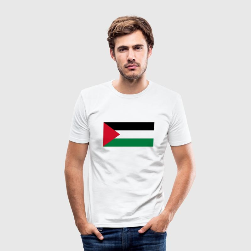 National flag of Palestine T-Shirts - Men's Slim Fit T-Shirt