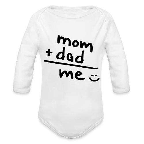 mom and dad. - Langærmet babybody, økologisk bomuld