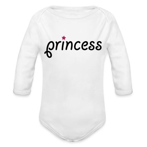 Princess - Langærmet babybody, økologisk bomuld