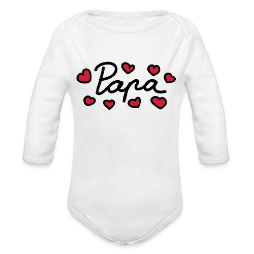 Papa - Langærmet babybody, økologisk bomuld