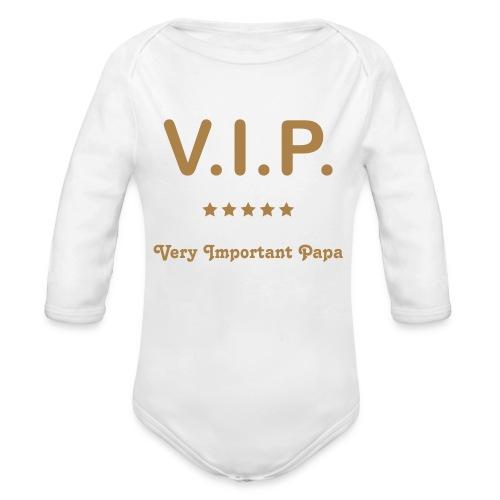V.I.P. - Langærmet babybody, økologisk bomuld