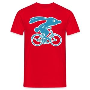 VL111A_Fahrradhase_2c_Fla T-Shirts - Männer T-Shirt
