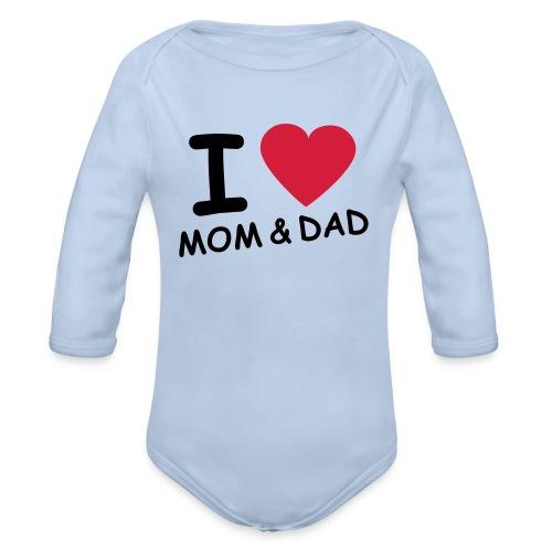 i love mom and dad - Baby bio-rompertje met lange mouwen