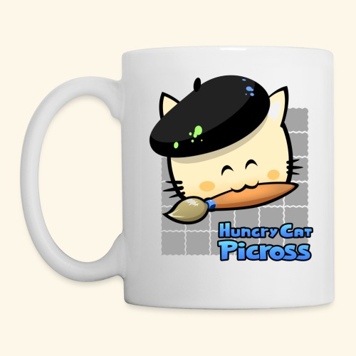 Hungry Cat Picross Mug (Grey) - Mug