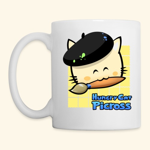 Hungry Cat Picross Mug (Yellow) - Mug