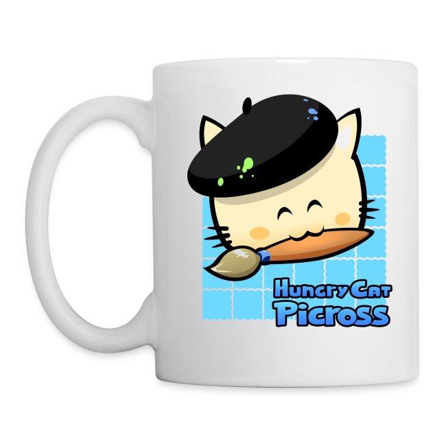 Hungry Cat Picross Mug (Blue)