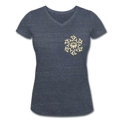 Damenshirt mit Aufdruck 'Lotus OM' - Frauen Bio-T-Shirt mit V-Ausschnitt von Stanley & Stella