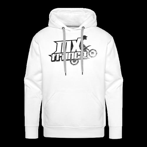 Logo Silver Tilt Stripes - Sweat-shirt à capuche Premium pour hommes