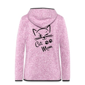 Jacke Cat-Mom - Frauen Kapuzen-Fleecejacke