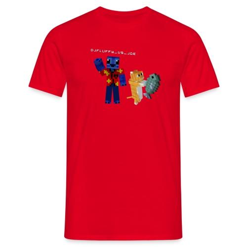 Budget FLuFFy vs Cat - Male - Mannen T-shirt