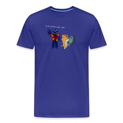 Premium FLuFFy vs Cat - Male - Mannen Premium T-shirt