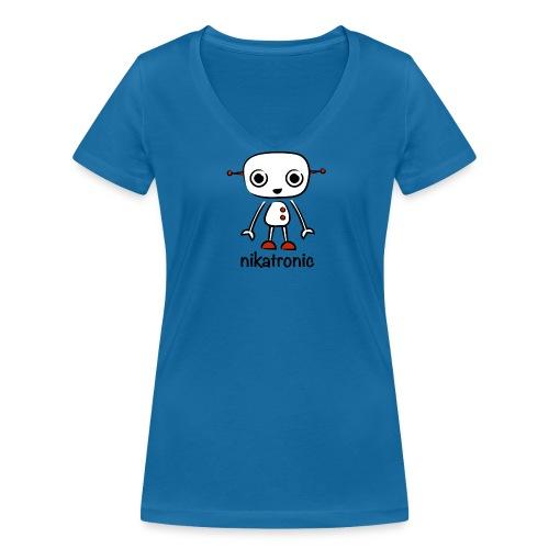 nikatronic v - Women's Organic V-Neck T-Shirt by Stanley & Stella