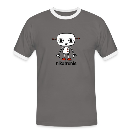 nikatronic retro beige - Men's Ringer Shirt