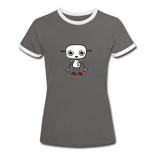 retro robot beige - Women's Ringer T-Shirt