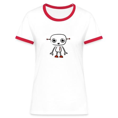retro robot red - Women's Ringer T-Shirt