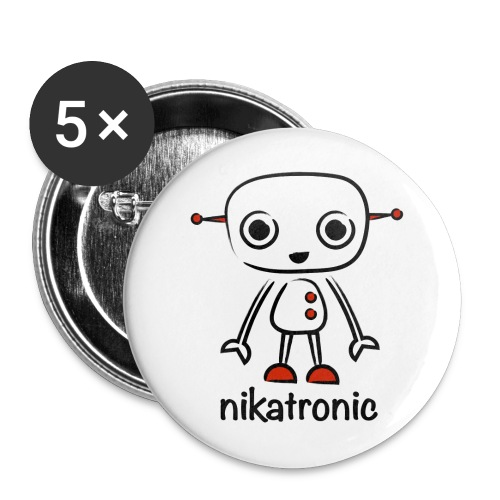 nikatronic buttons - Buttons small 1''/25 mm (5-pack)