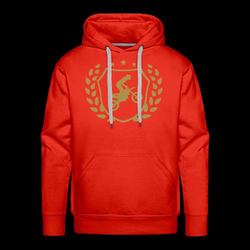 MX shield (or paillette) - Sweat-shirt à capuche Premium pour hommes