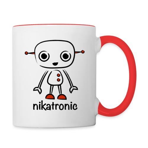 nikatronic mug - Contrasting Mug