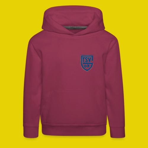 Kinder Kapuzen Pulli mit blauem Logo - Kinder Premium Hoodie