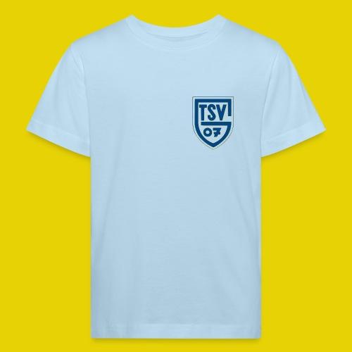 Kinder Bio Shirt mit blauem Logo - Kinder Bio-T-Shirt