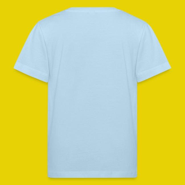 Kinder Bio Shirt mit blauem Logo