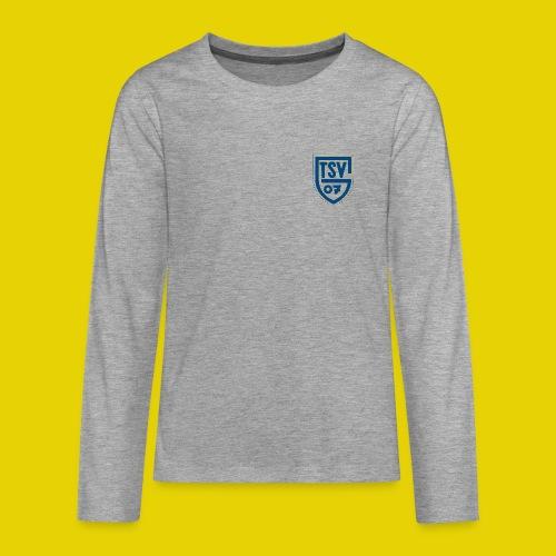 Teenager Langarm Shirt mit blauem Logo - Teenager Premium Langarmshirt