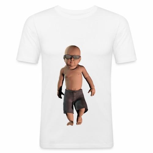 Camiseta hombre manga corta bebé moderno - Camiseta ajustada hombre
