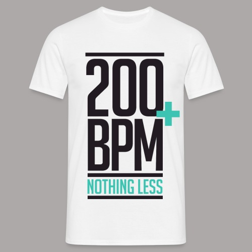 200 BPM NOTHING LESS / T-SHIRT MEN #1 - Mannen T-shirt