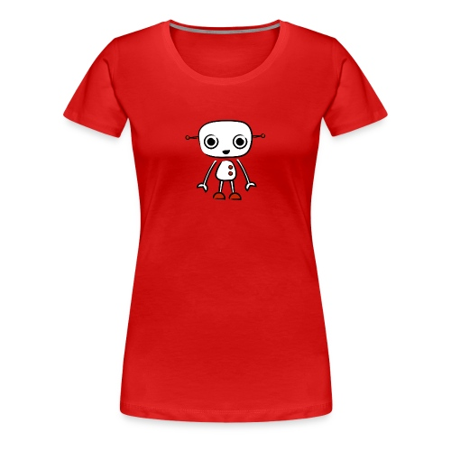 robot woman lux - Women's Premium T-Shirt