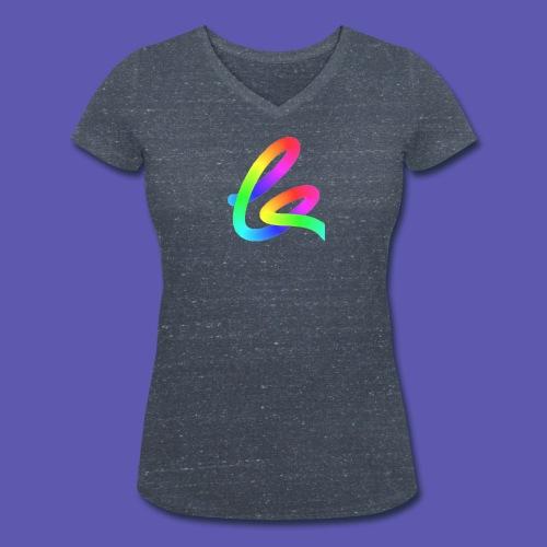 Keasylogoshirt rainbow (f) - Frauen Bio-T-Shirt mit V-Ausschnitt von Stanley & Stella