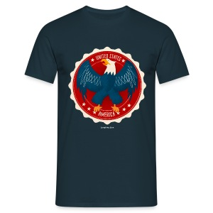 USA Eagle Men's T - Men's T-Shirt