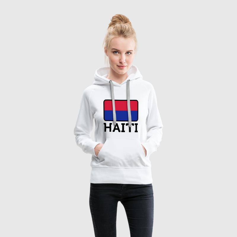 Drapeau national d Haïti Sweat-shirts - Sweat-shirt à capuche Premium pour femmes