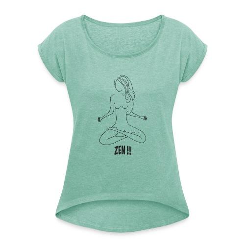 Silhouette Zen - T-shirt à manches retroussées Femme