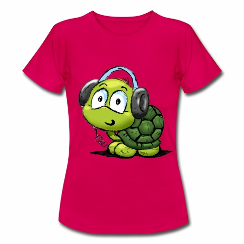 Camiseta mujer manga corta tortuga verde. - Camiseta mujer